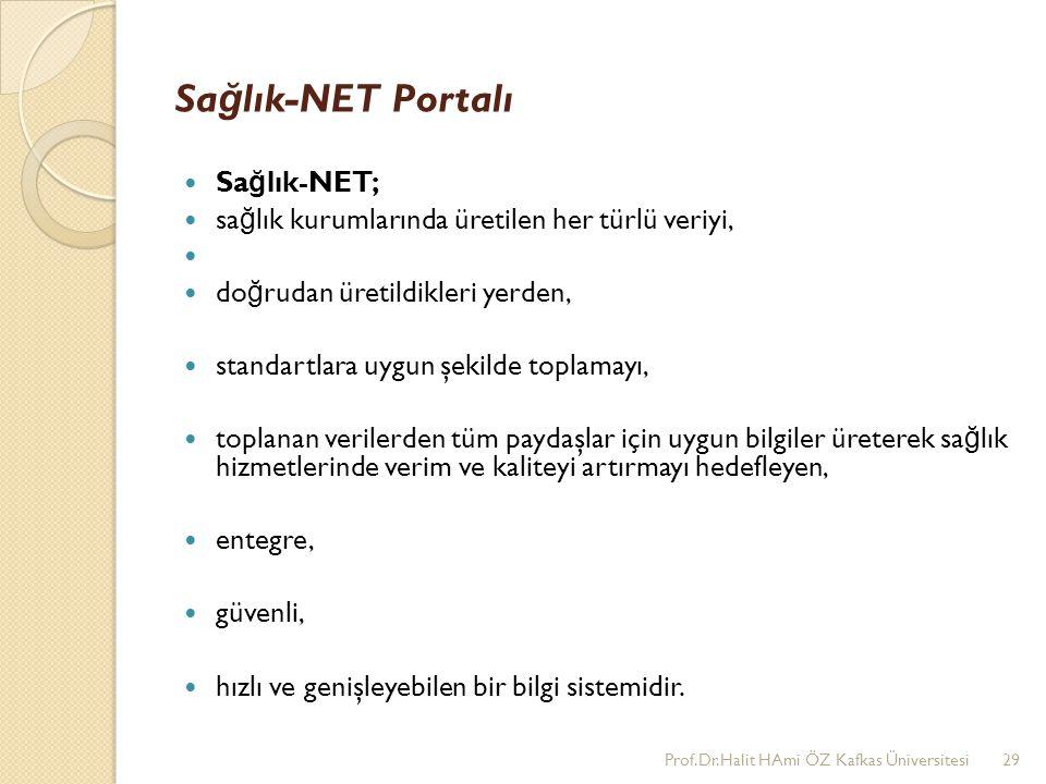 Sağlık-NET Portalı Sağlık-NET;