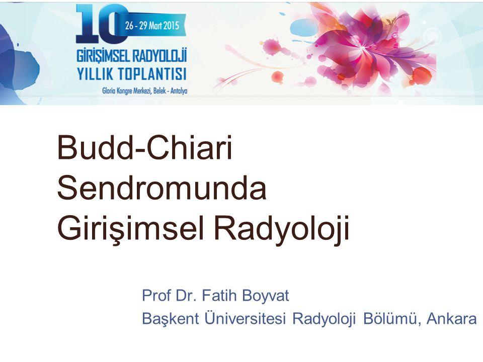 Budd-Chiari Sendromunda Girişimsel Radyoloji