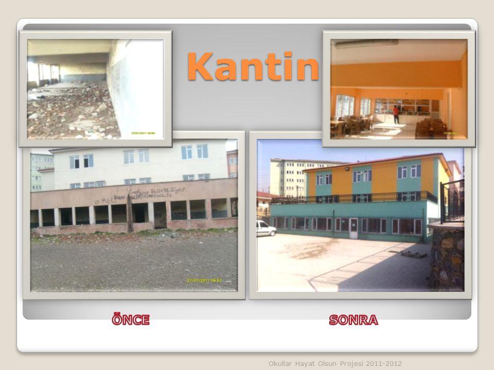 Kantin ÖNCE SONRA Okullar Hayat Olsun Projesi 2011-2012