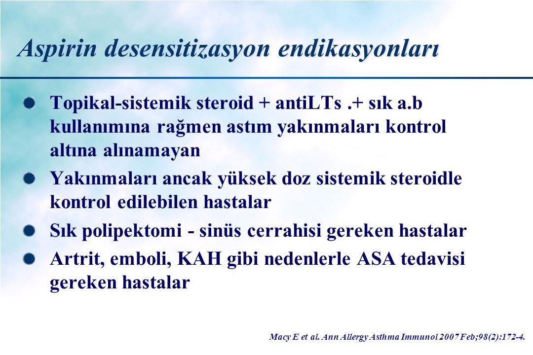 Aspirin desensitizasyon endikasyonları