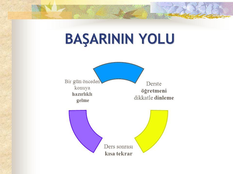 BAŞARININ YOLU