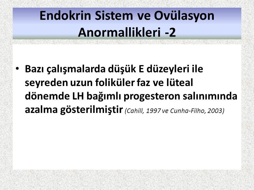 Endokrin Sistem ve Ovülasyon Anormallikleri -2