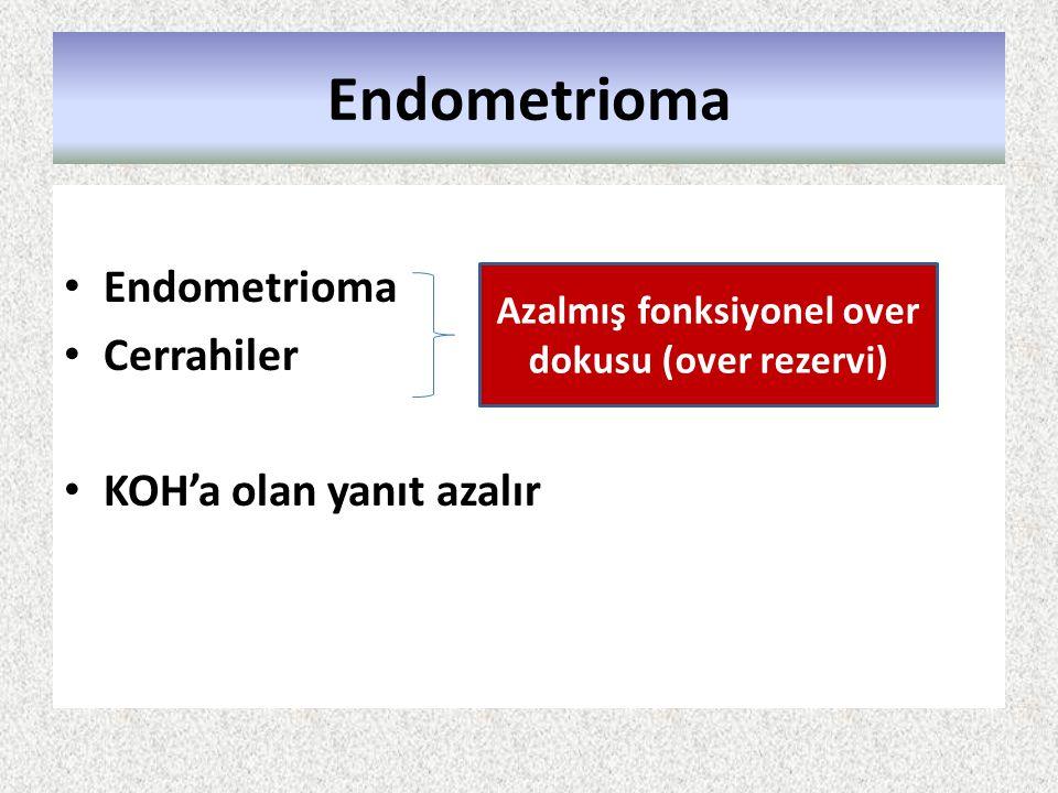 Azalmış fonksiyonel over dokusu (over rezervi)