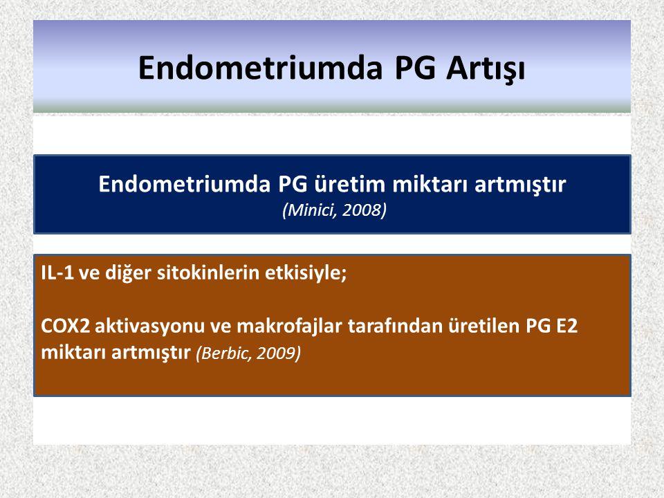 Endometriumda PG Artışı