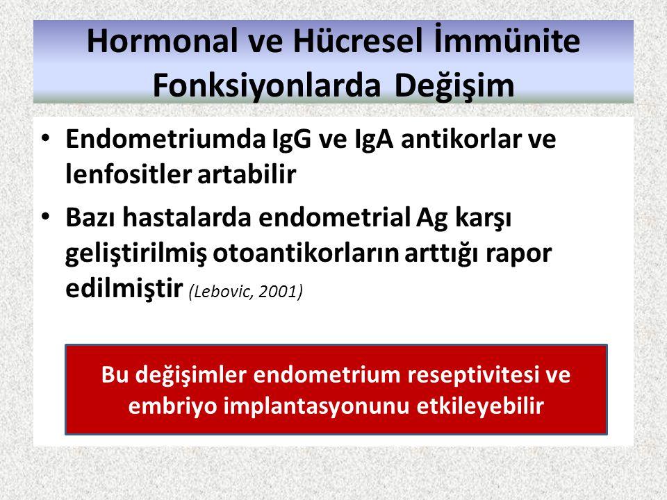 Hormonal ve Hücresel İmmünite Fonksiyonlarda Değişim
