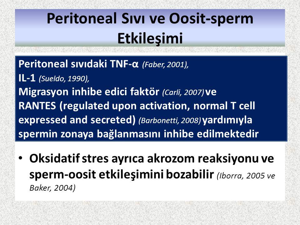 Peritoneal Sıvı ve Oosit-sperm Etkileşimi