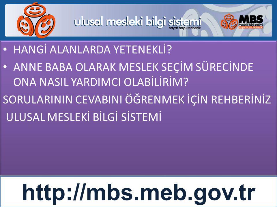 http://mbs.meb.gov.tr HANGİ ALANLARDA YETENEKLİ