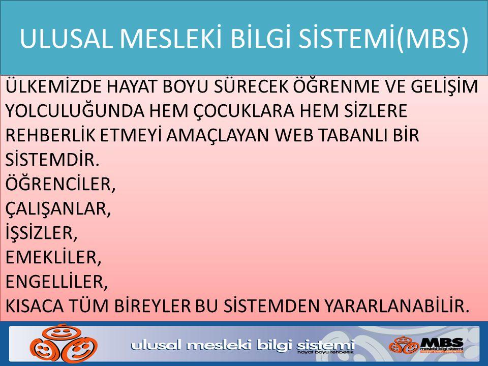 ULUSAL MESLEKİ BİLGİ SİSTEMİ(MBS)