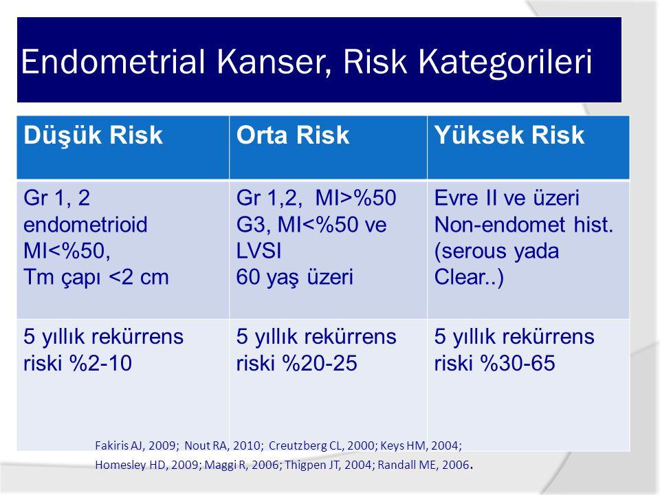 Endometrial Kanser, Risk Kategorileri