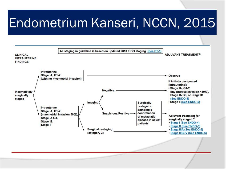 Endometrium Kanseri, NCCN, 2015