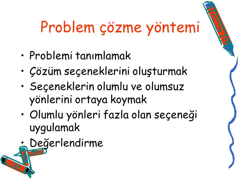Problem çözme yöntemi Problemi tanımlamak