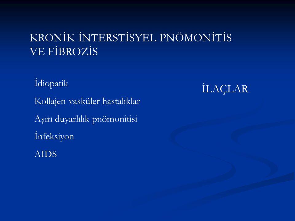 KRONİK İNTERSTİSYEL PNÖMONİTİS VE FİBROZİS