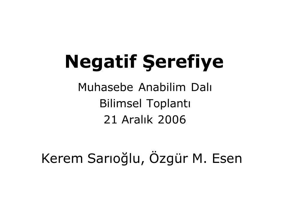 Muhasebe Anabilim Dalı Bilimsel Toplantı 21 Aralık 2006