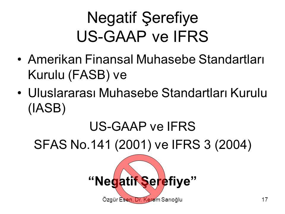 Negatif Şerefiye US-GAAP ve IFRS