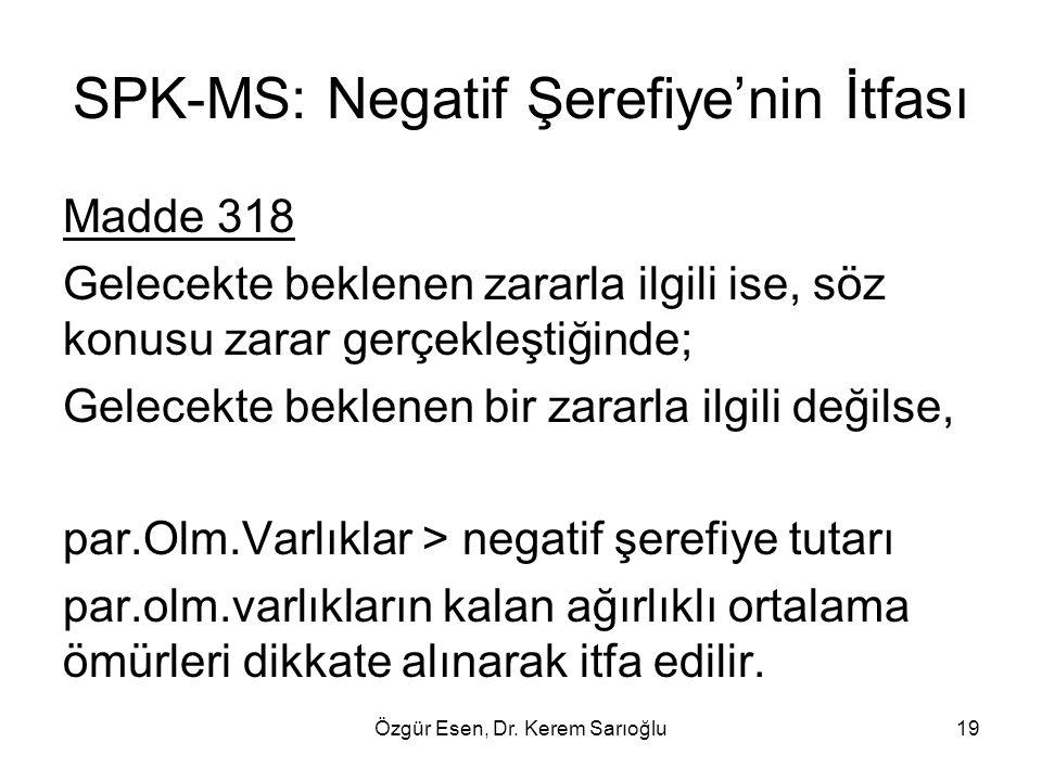 SPK-MS: Negatif Şerefiye'nin İtfası