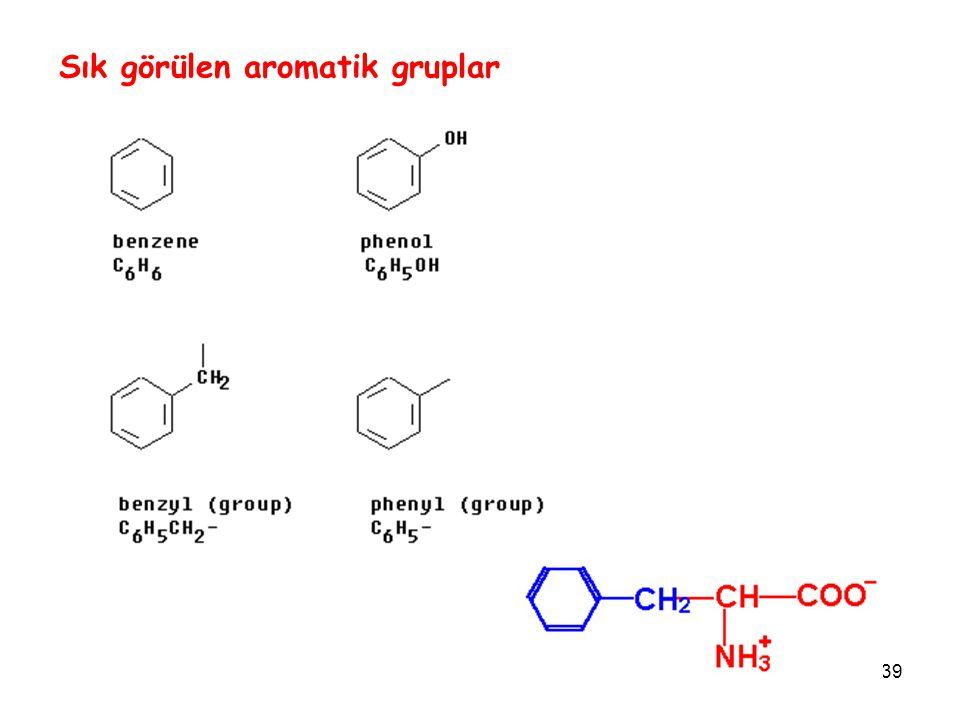 Sık görülen aromatik gruplar