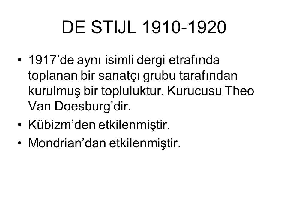 DE STIJL 1910-1920