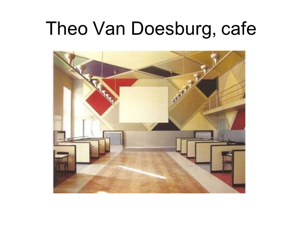 Theo Van Doesburg, cafe