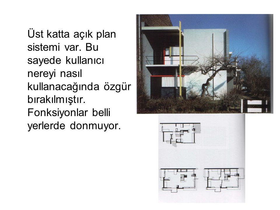 Üst katta açık plan sistemi var