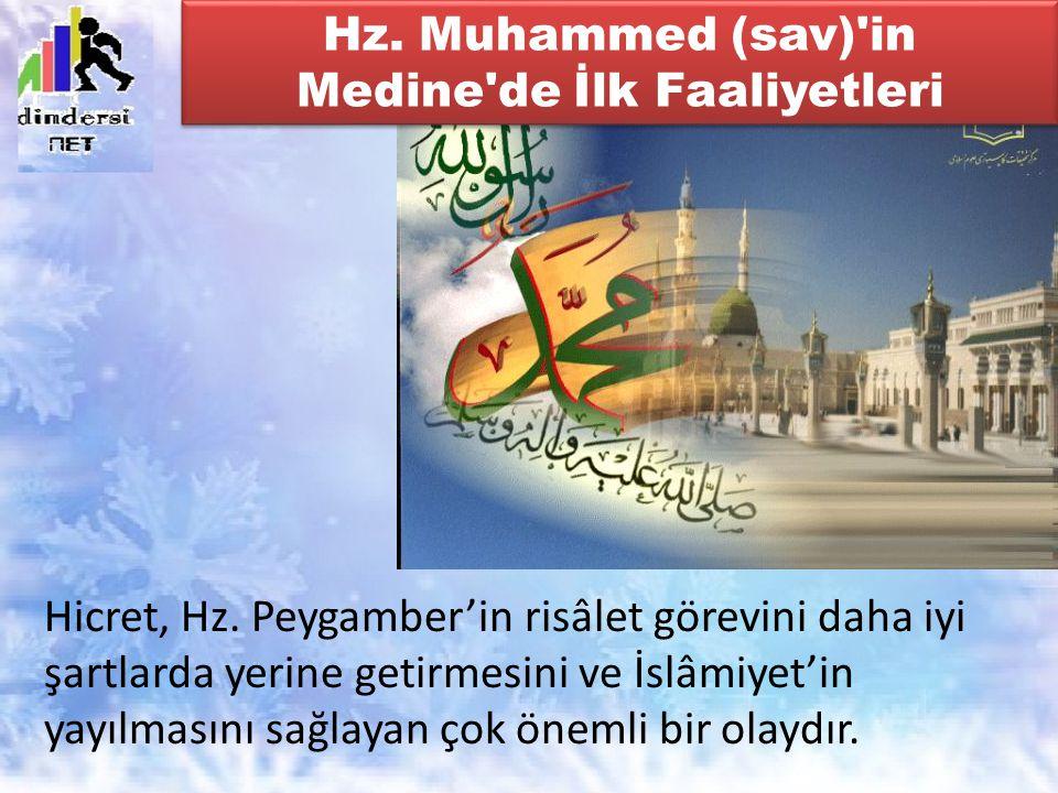 Hz. Muhammed (sav) in Medine de İlk Faaliyetleri