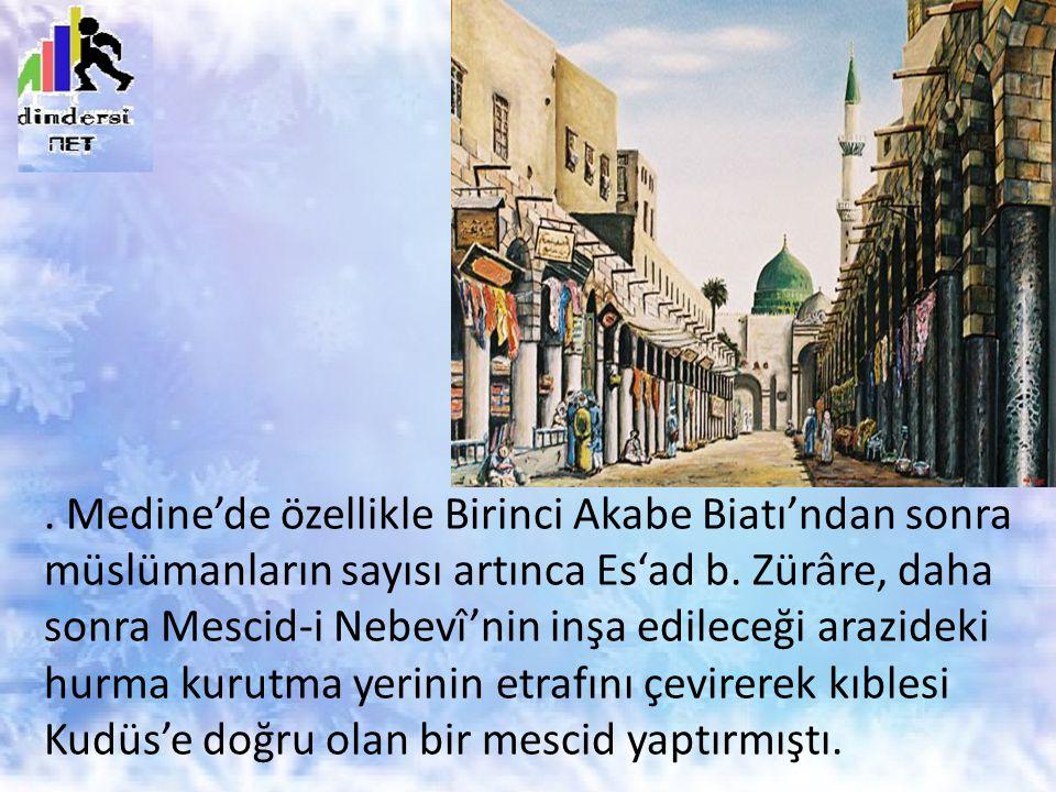 Medine'de özellikle Birinci Akabe Biatı'ndan sonra müslümanların sayısı artınca Es'ad b.