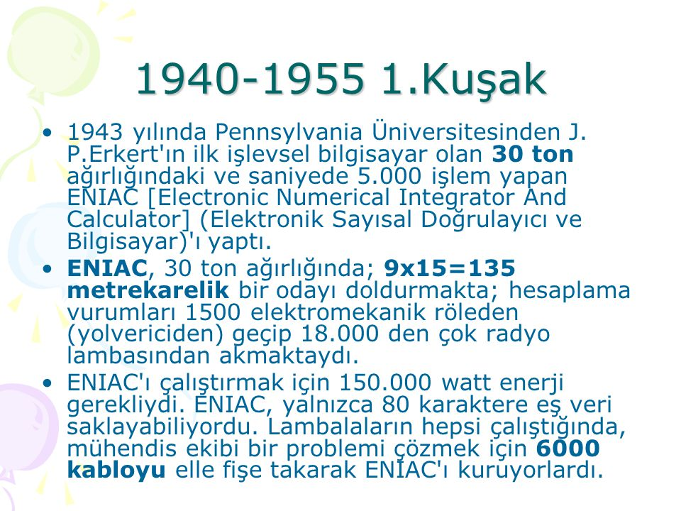 1940-1955 1.Kuşak