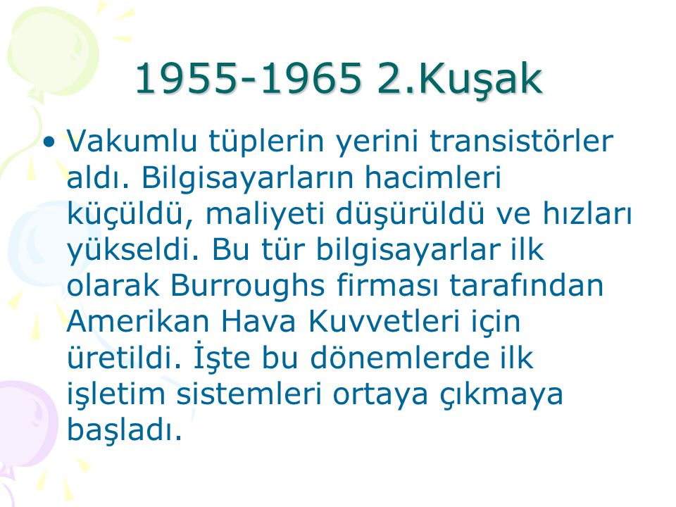 1955-1965 2.Kuşak