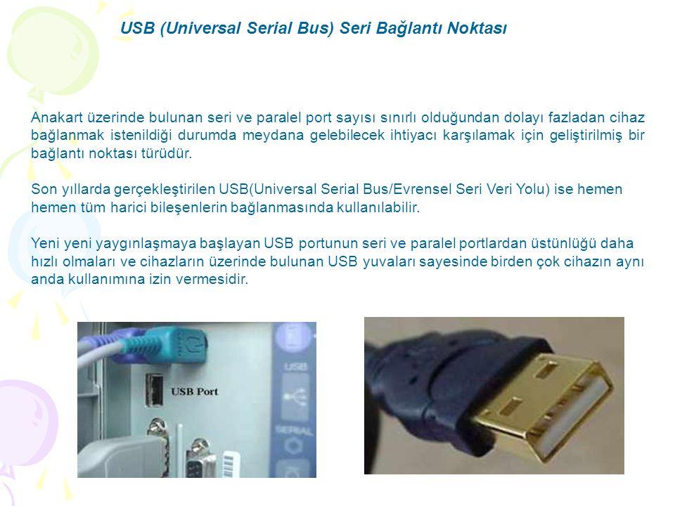 USB (Universal Serial Bus) Seri Bağlantı Noktası