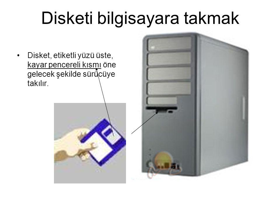 Disketi bilgisayara takmak