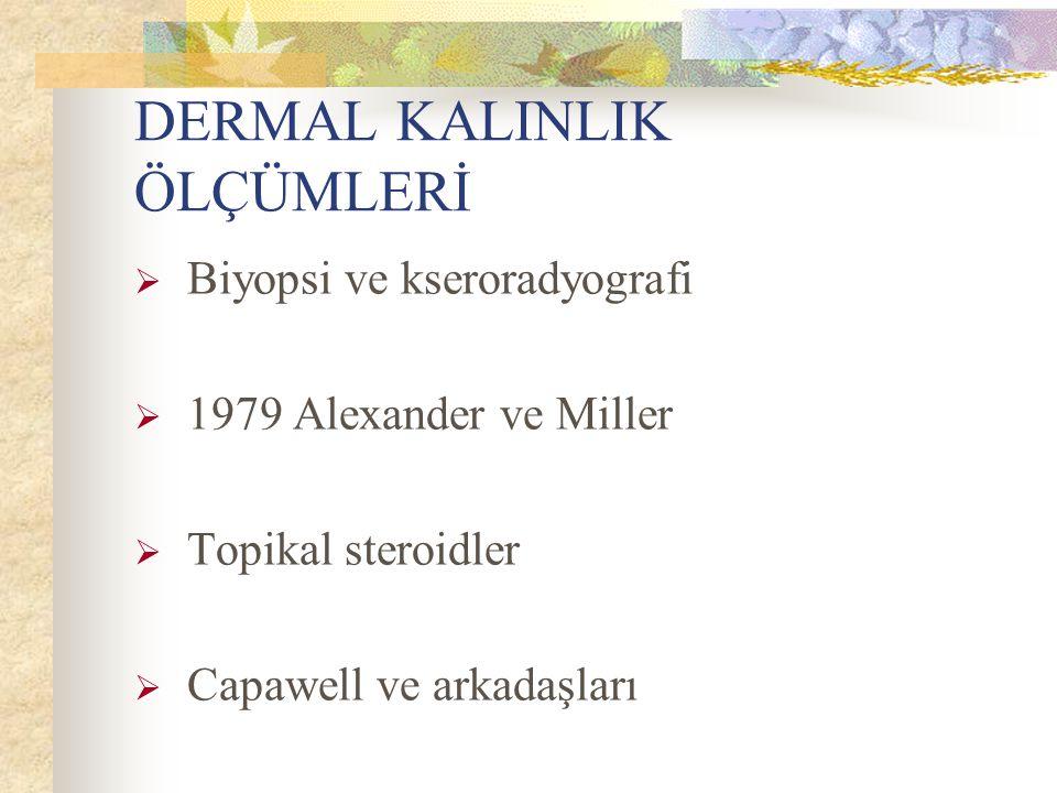 DERMAL KALINLIK ÖLÇÜMLERİ