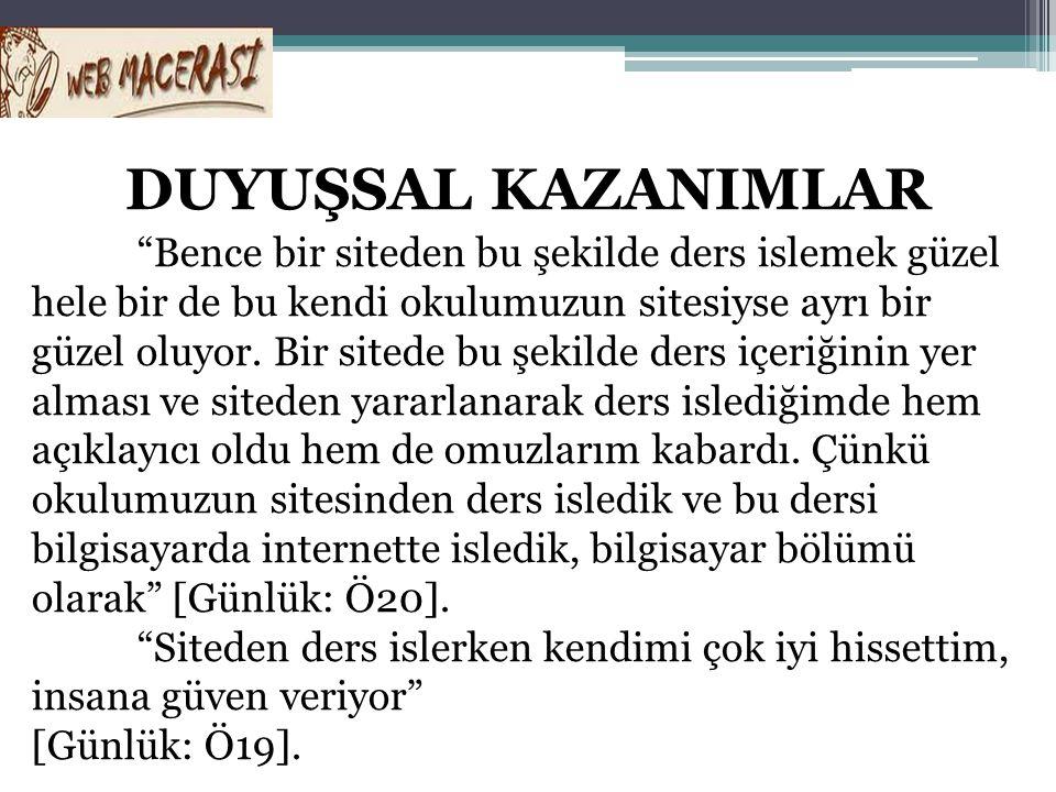 DUYUŞSAL KAZANIMLAR
