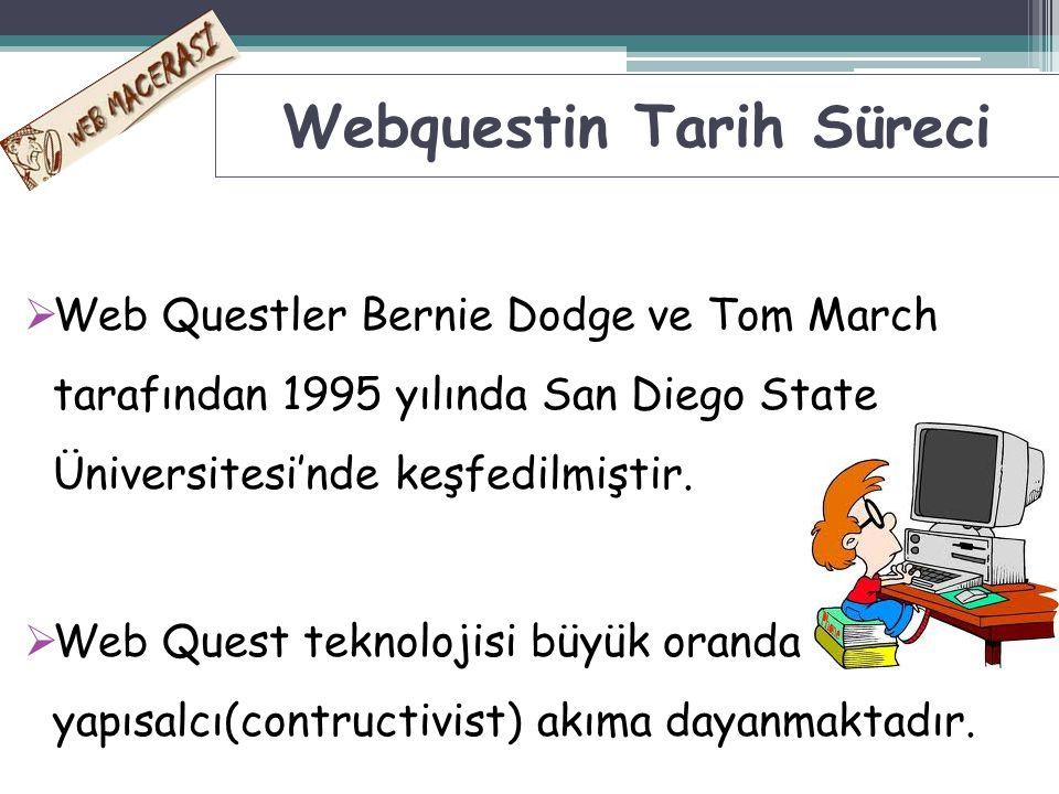 Webquestin Tarih Süreci