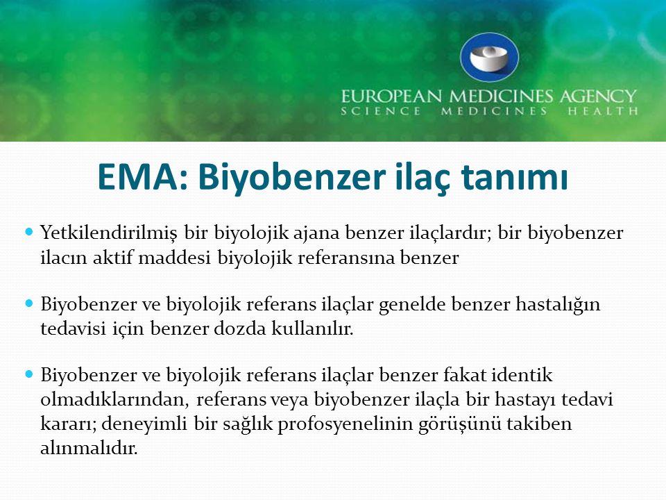 EMA: Biyobenzer ilaç tanımı