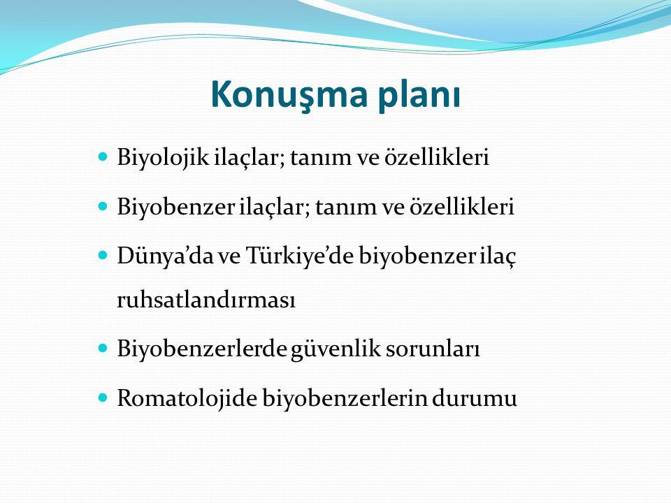 Konuşma planı Biyolojik ilaçlar; tanım ve özellikleri