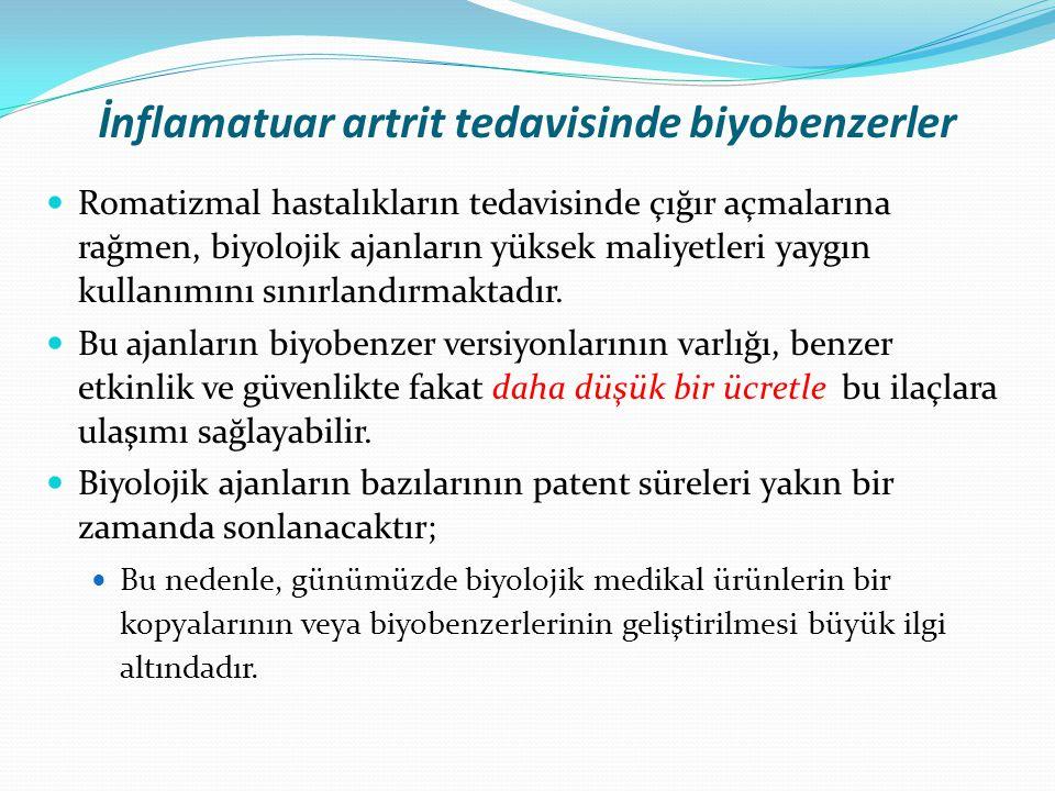 İnflamatuar artrit tedavisinde biyobenzerler
