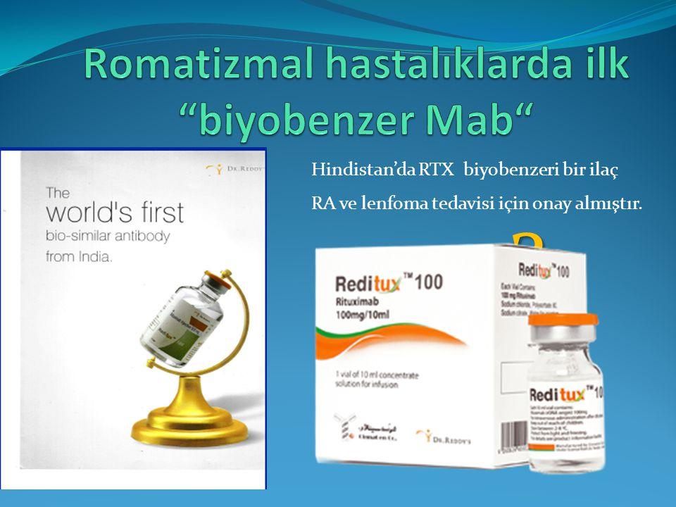 Romatizmal hastalıklarda ilk biyobenzer Mab