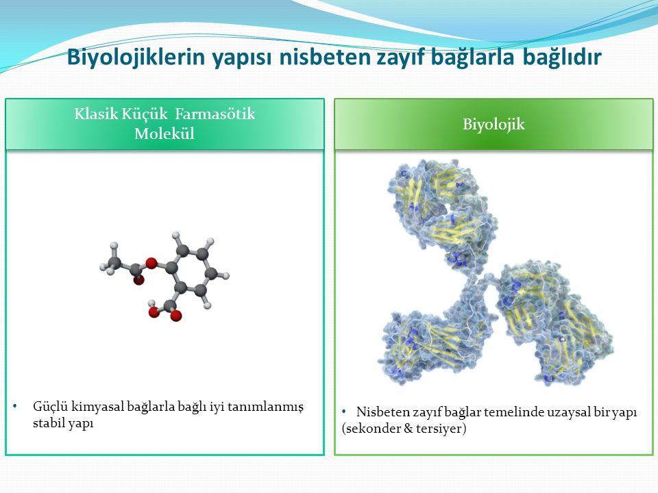 Biyolojiklerin yapısı nisbeten zayıf bağlarla bağlıdır