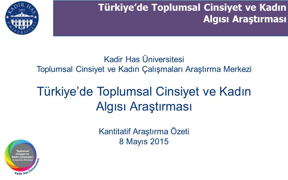 Kantitatif Araştırma Özeti 8 Mayıs 2015