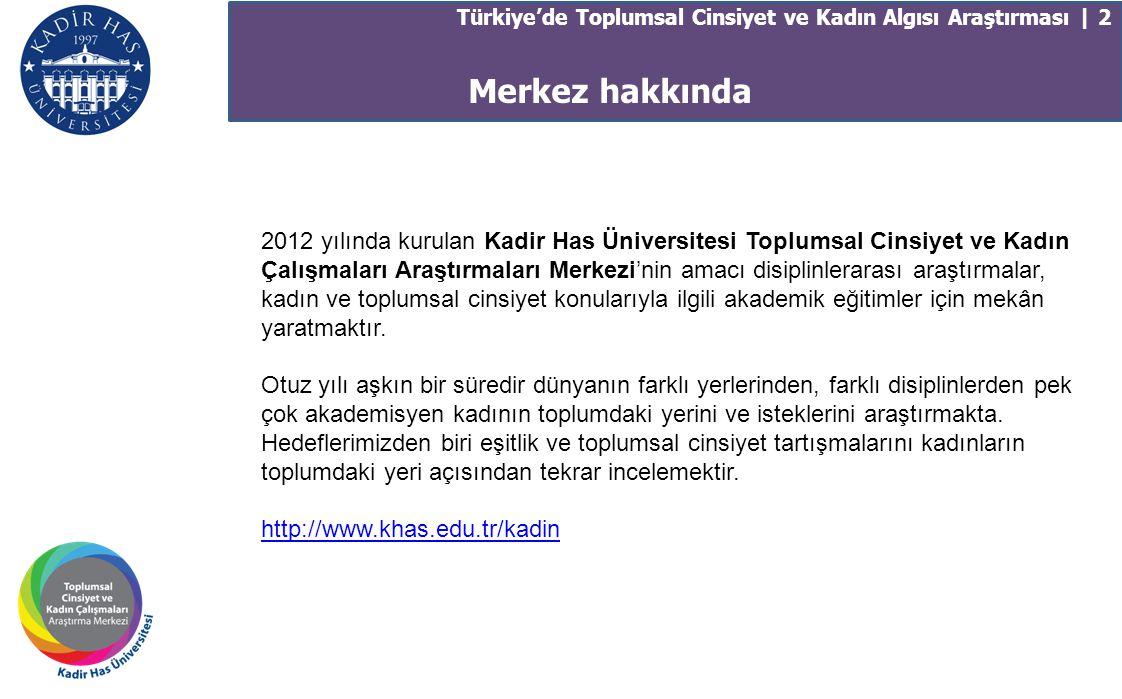 Türkiye'de Toplumsal Cinsiyet ve Kadın Algısı Araştırması | 2