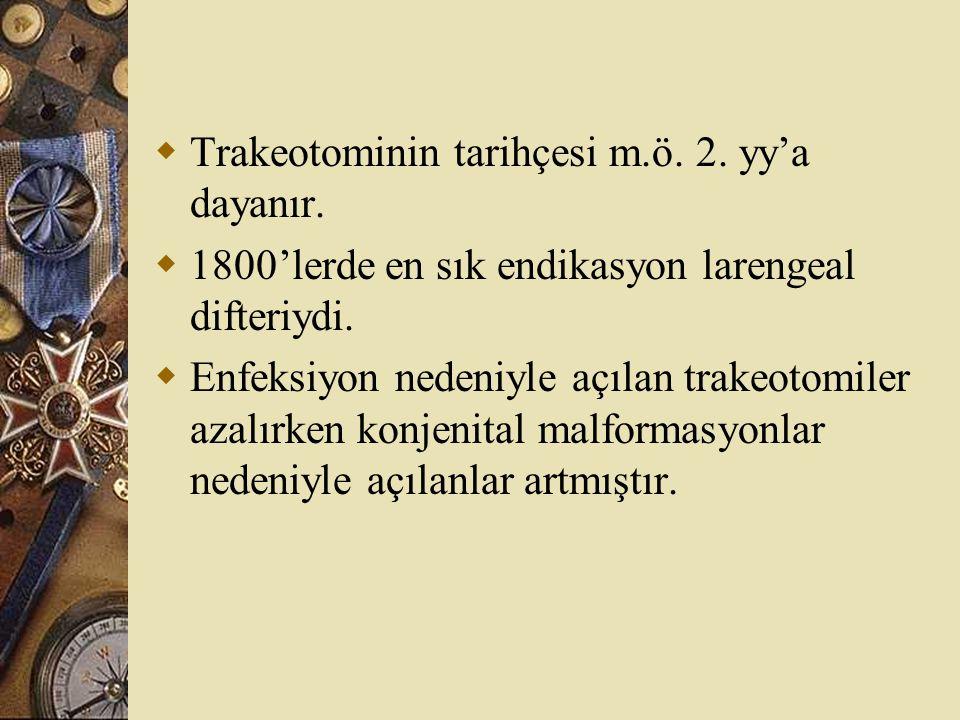 Trakeotominin tarihçesi m.ö. 2. yy'a dayanır.