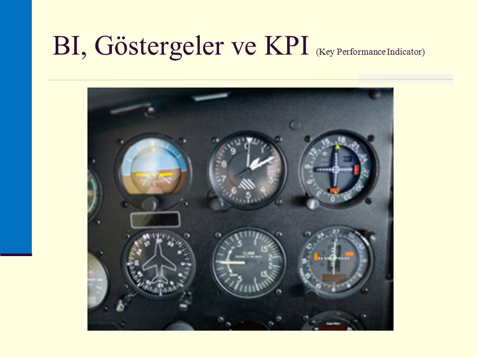 BI, Göstergeler ve KPI (Key Performance Indicator)