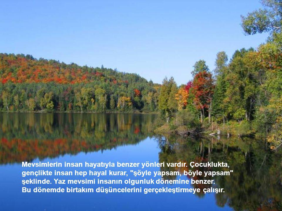 Mevsimlerin insan hayatıyla benzer yönleri vardır