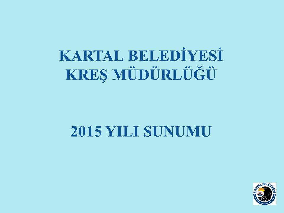 KARTAL BELEDİYESİ KREŞ MÜDÜRLÜĞÜ 2015 YILI SUNUMU