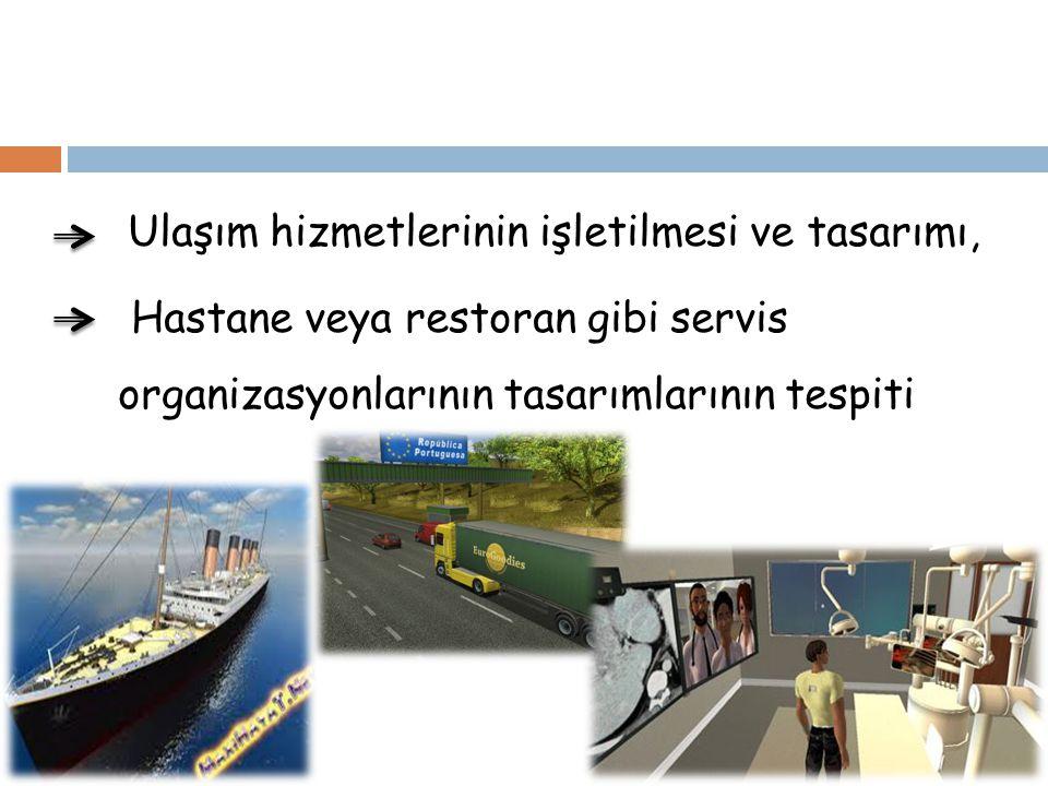 Ulaşım hizmetlerinin işletilmesi ve tasarımı,
