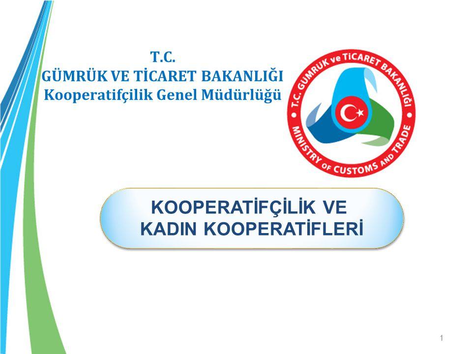GÜMRÜK VE TİCARET BAKANLIĞI Kooperatifçilik Genel Müdürlüğü