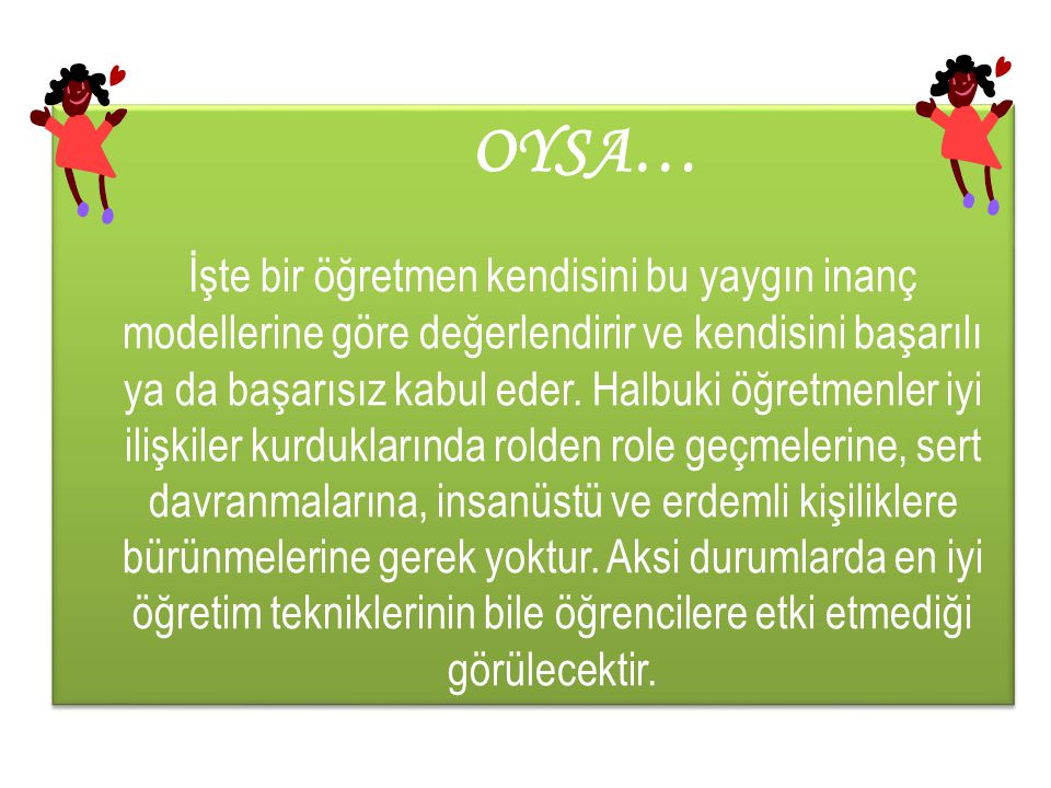 OYSA…