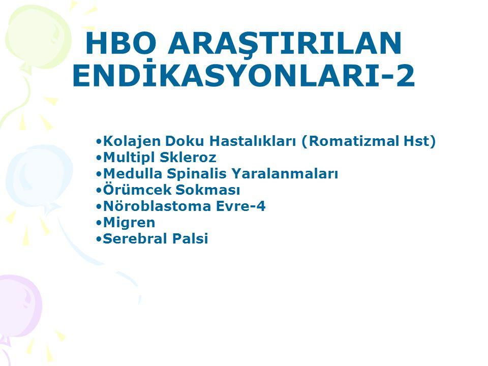 HBO ARAŞTIRILAN ENDİKASYONLARI-2