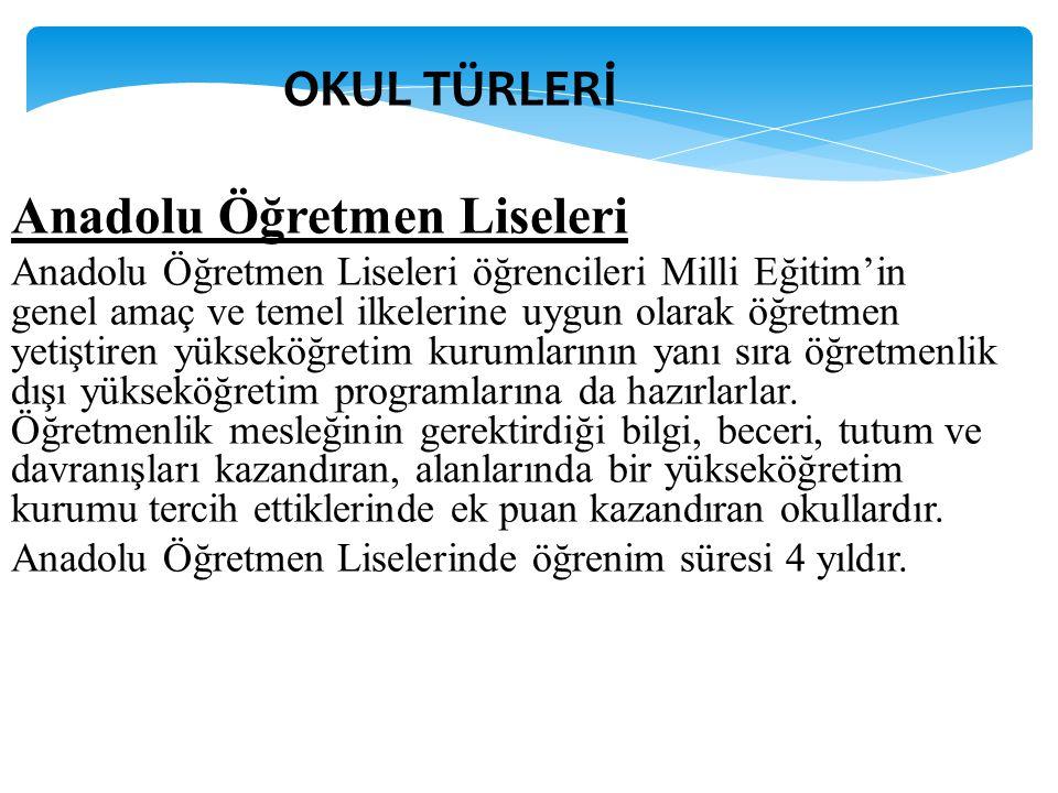 Anadolu Öğretmen Liseleri