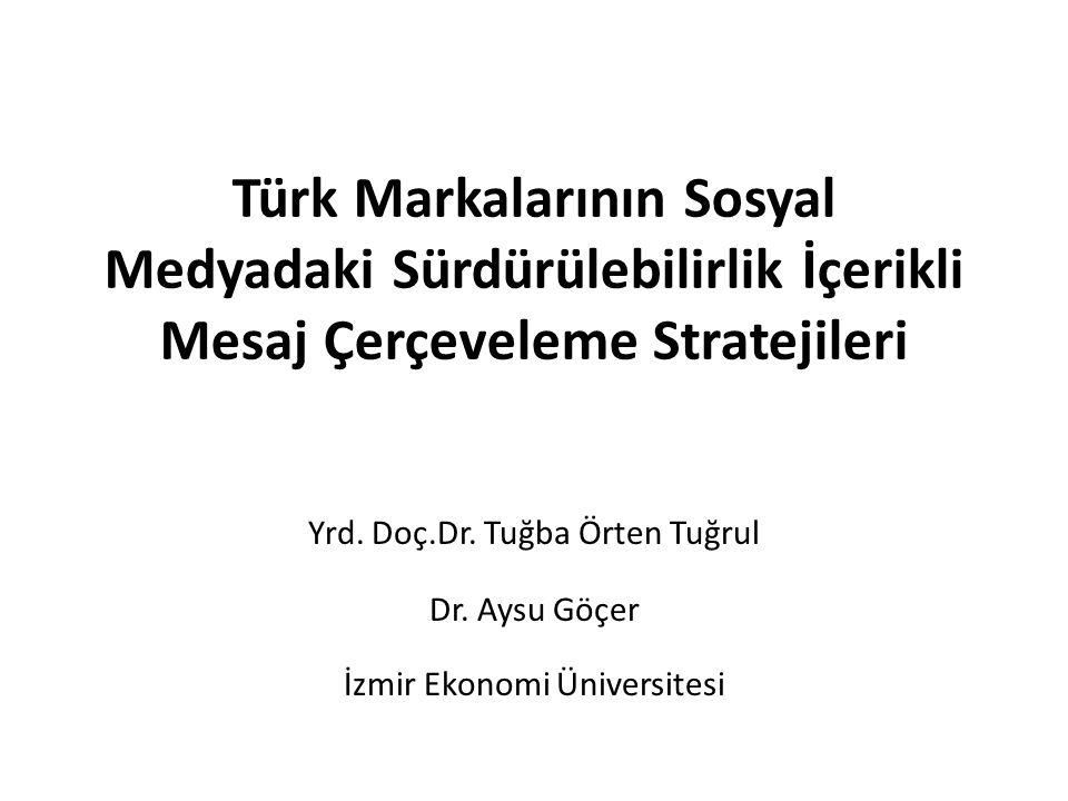 Türk Markalarının Sosyal Medyadaki Sürdürülebilirlik İçerikli Mesaj Çerçeveleme Stratejileri