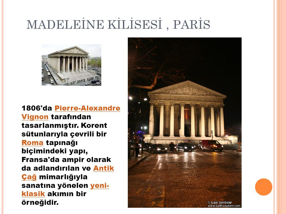 MADELEİNE KİLİSESİ , PARİS